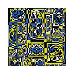 Blue and yellow decor Acrylic Tangram Puzzle (6  x 6 )