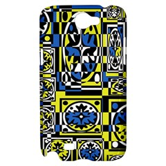 Blue and yellow decor Samsung Galaxy Note 2 Hardshell Case