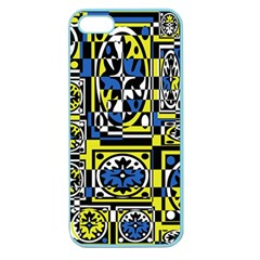 Blue and yellow decor Apple Seamless iPhone 5 Case (Color)