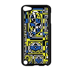 Blue and yellow decor Apple iPod Touch 5 Case (Black)