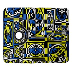 Blue and yellow decor Samsung Galaxy Note II Flip 360 Case