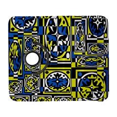 Blue And Yellow Decor Samsung Galaxy S  Iii Flip 360 Case