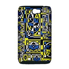 Blue and yellow decor Samsung Galaxy Note 2 Hardshell Case (PC+Silicone)