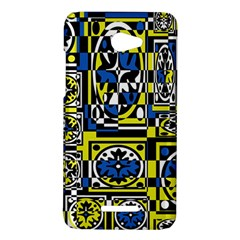 Blue and yellow decor HTC Butterfly X920E Hardshell Case