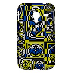 Blue and yellow decor Samsung Galaxy Ace Plus S7500 Hardshell Case