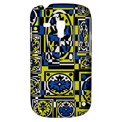 Blue and yellow decor Samsung Galaxy S3 MINI I8190 Hardshell Case