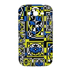 Blue and yellow decor Samsung Galaxy Grand DUOS I9082 Hardshell Case