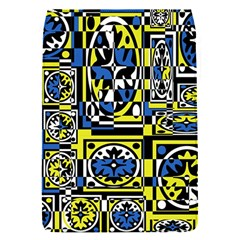 Blue and yellow decor Flap Covers (S)