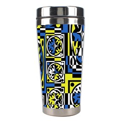 Blue and yellow decor Stainless Steel Travel Tumblers
