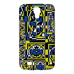 Blue and yellow decor Samsung Galaxy Mega 6.3  I9200 Hardshell Case