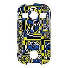 Blue and yellow decor Samsung Galaxy S7710 Xcover 2 Hardshell Case