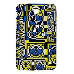 Blue and yellow decor Samsung Galaxy Tab 3 (7 ) P3200 Hardshell Case