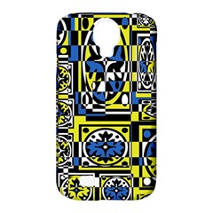 Blue and yellow decor Samsung Galaxy S4 Classic Hardshell Case (PC+Silicone)