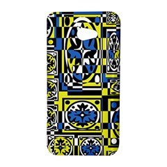 Blue and yellow decor HTC Butterfly S/HTC 9060 Hardshell Case
