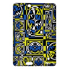 Blue and yellow decor Amazon Kindle Fire HD (2013) Hardshell Case