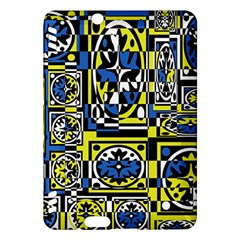 Blue and yellow decor Kindle Fire HDX Hardshell Case