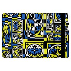 Blue and yellow decor iPad Air Flip