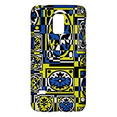 Blue and yellow decor Galaxy S5 Mini