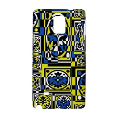 Blue and yellow decor Samsung Galaxy Note 4 Hardshell Case
