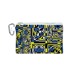 Blue and yellow decor Canvas Cosmetic Bag (S)