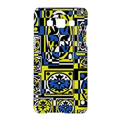 Blue and yellow decor Samsung Galaxy A5 Hardshell Case