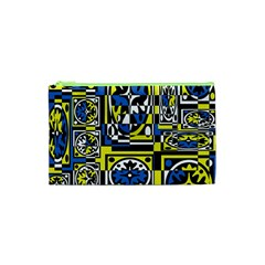 Blue and yellow decor Cosmetic Bag (XS)