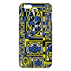 Blue and yellow decor iPhone 6 Plus/6S Plus TPU Case