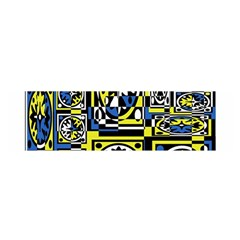 Blue and yellow decor Satin Scarf (Oblong)