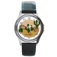 Desert 2 Round Metal Watch