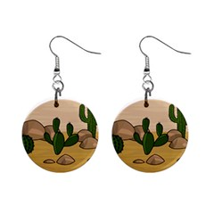 Desert 2 Mini Button Earrings