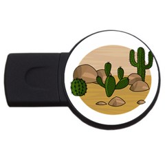 Desert 2 USB Flash Drive Round (1 GB)