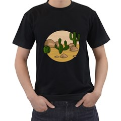 Desert 2 Men s T-Shirt (Black) (Two Sided)