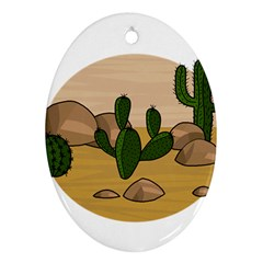Desert 2 Oval Ornament (Two Sides)