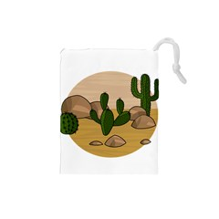 Desert 2 Drawstring Pouches (Small)