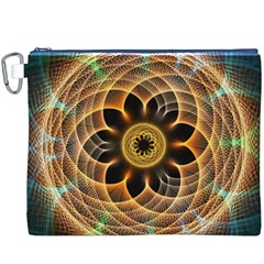 Mixed Chaos Flower Colorful Fractal Canvas Cosmetic Bag (XXXL)
