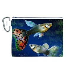Marine Fishes Canvas Cosmetic Bag (L)