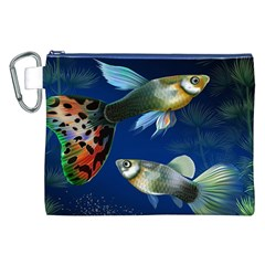 Marine Fishes Canvas Cosmetic Bag (XXL)