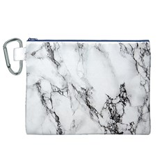 Marble Pattern Canvas Cosmetic Bag (XL)