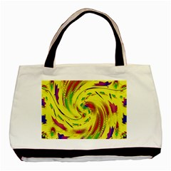 Leaf And Rainbows In The Wind Basic Tote Bag