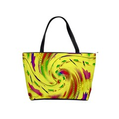 Leaf And Rainbows In The Wind Shoulder Handbags
