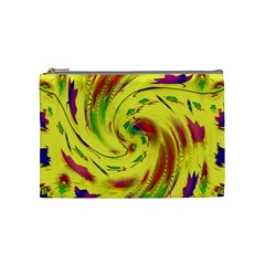 Leaf And Rainbows In The Wind Cosmetic Bag (medium)