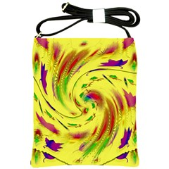 Leaf And Rainbows In The Wind Shoulder Sling Bags