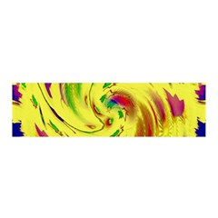 Leaf And Rainbows In The Wind Satin Scarf (oblong)