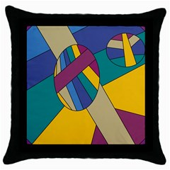 Unknown Abstract Modern Art By Eml180516 Throw Pillow Case (black)