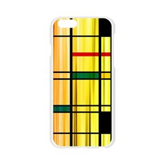 Line Rainbow Grid Abstract Apple Seamless iPhone 6/6S Case (Transparent)