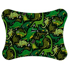 Dino Pattern Cartoons Jigsaw Puzzle Photo Stand (Bow)