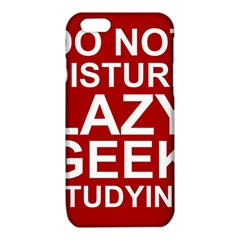 Do Not Disturb Lazy Geek Studying Glass Framed Poster iPhone 6/6S TPU Case