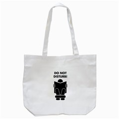 Do Not Disturb Sign Board Tote Bag (White)