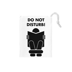 Do Not Disturb Sign Board Drawstring Pouches (small)
