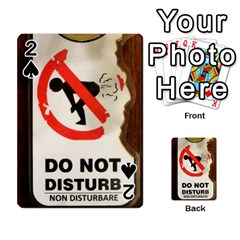 Do Not Disturb Sign Please Go Away I Don T Care Playing Cards 54 Designs